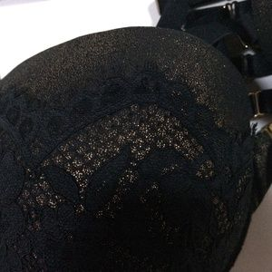 Cacique Intimates & Sleepwear - Cacique Shine Foil & Lace 42DD Boost Plunge Bra